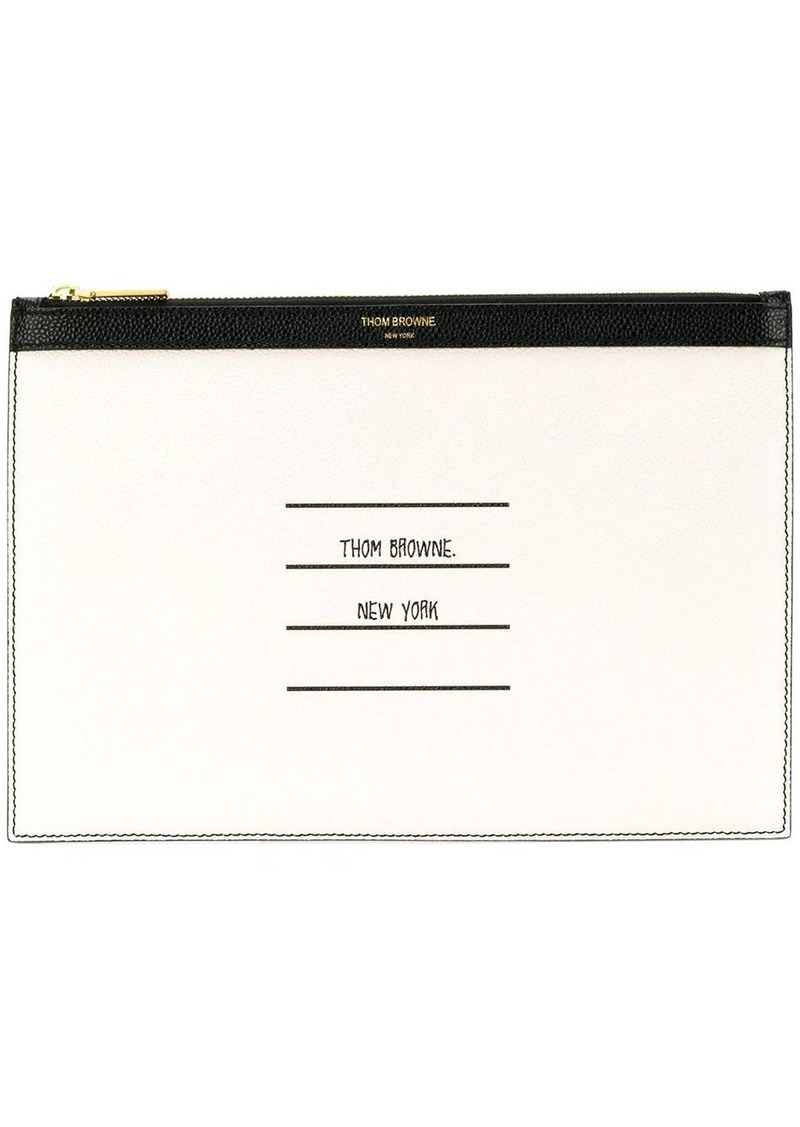 Thom Browne Paper Label Small Tablet Holder