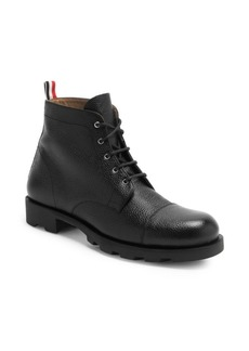 Thom Browne Pebbled Leather Cap Toe Derby Boots