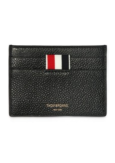 Thom Browne Pebbled Leather Card Holder