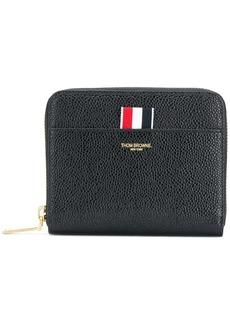 Thom Browne pebbled short zip-around purse