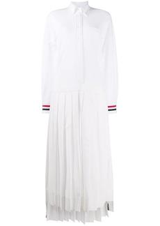 Thom Browne pleat-detail shirt dress