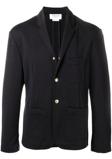 Thom Browne press stud fastening blazer