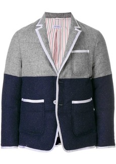 Thom Browne Bicolor Quilted Sack Sport Coat