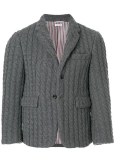 Thom Browne Ribbed Baby Cable Cashmere Sport Coat