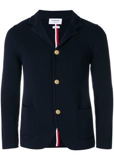 Thom Browne ribbed stripe detail blazer