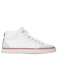 Thom Browne Rubberized Leather High-top Sneakers