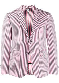 Thom Browne RWB Seersucker Striped Blazer