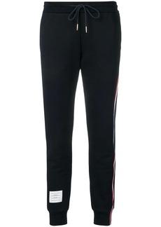 Thom Browne loopback stripe track pants