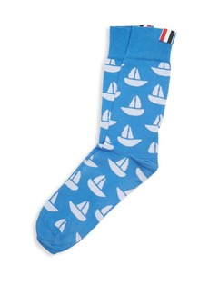 Thom Browne Sailboat Mid-Calf Socks