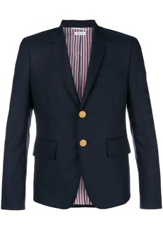 Thom Browne Sateen 4-Bar High-Armhole Sport Coat