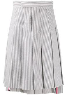 Thom Browne Seersucker Classic Rise Skirt