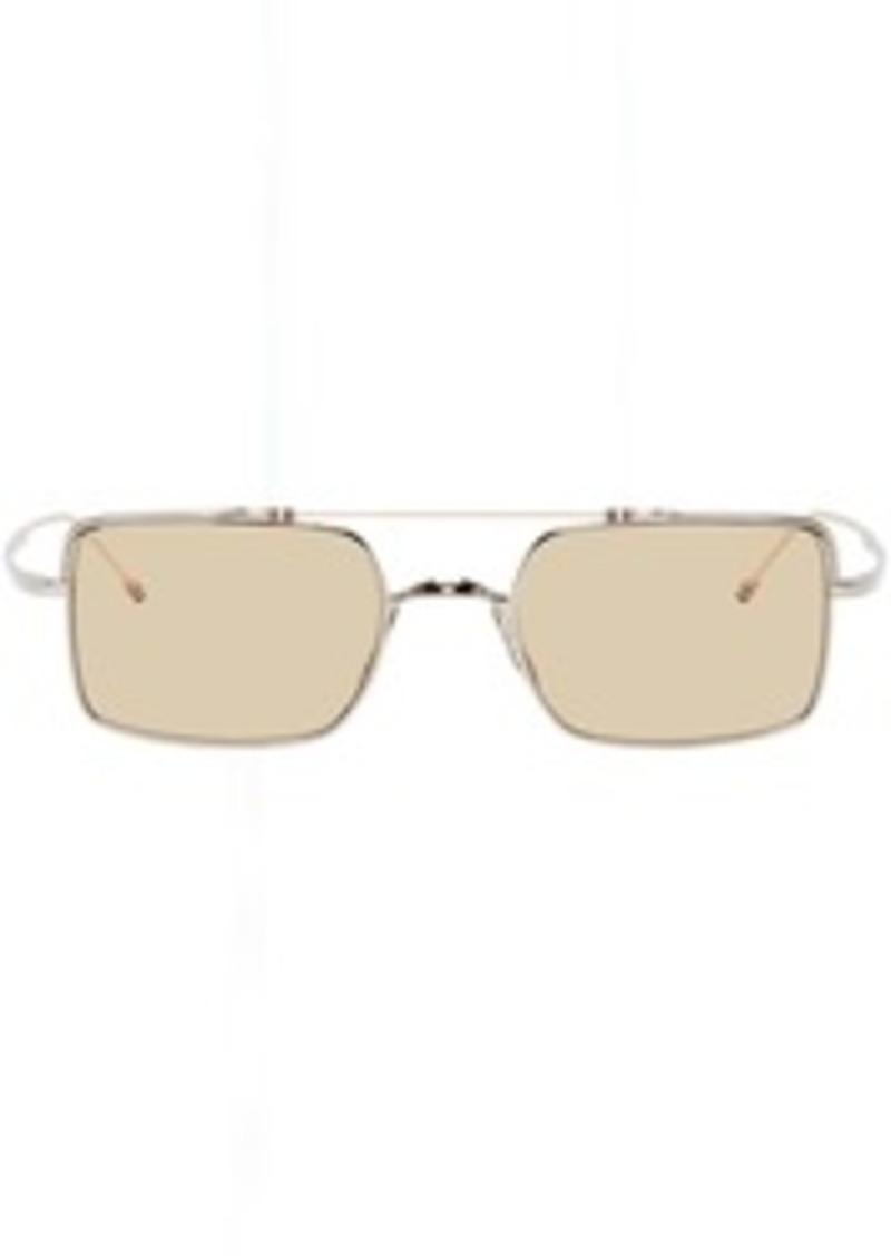Thom Browne Silver & White Gold TB-909 Sunglasses