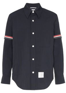 Thom Browne Solid Nylon Armband Shirt Jacket