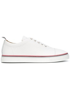 Thom Browne Straight Toe Cap Trainer In Pebble Grain