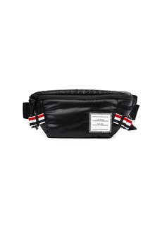 Thom Browne Stripe Leather Woven Belt Bag