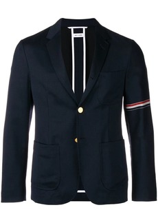 Thom Browne Rwb Stripe Patch Pocket Sport Coat