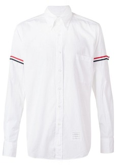 Thom Browne striped sleeve shirt