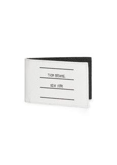 Thom Browne TBNY Label Bi-Fold Leather Wallet