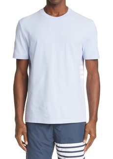 Thom Browne 4-Bar Back Stripe Piqué T-Shirt