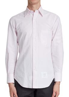 Thom Browne 4-Bar Button-Down Shirt