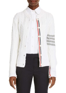 Thom Browne 4 Bar Cable Knit Cardigan