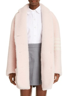 Thom Browne 4-Bar Genuine Shearling Coat