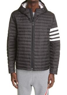 Thom Browne 4-Bar Hooded Down Jacket