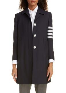 Thom Browne 4-Bar Long Wool Jacket