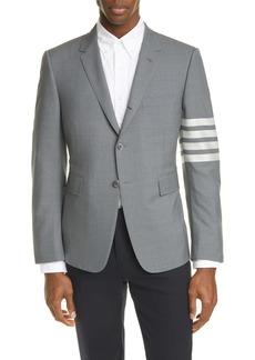 Thom Browne 4 Bar Mélange Wool Sport Coat