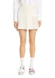 Thom Browne 4-Bar Pleated High/Low Skirt