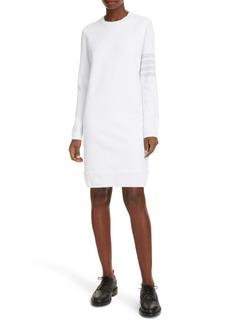 Thom Browne 4-Bar Ribbed Long Sleeve Sweatshirt Dress