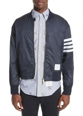 Thom Browne 4 Bar Ripstop Bomber Jacket