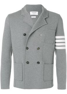 Thom Browne 4-Bar Stripe Double-Breasted Merino Wool Sport Coat