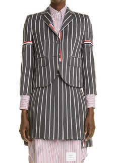 Thom Browne 4-Bar Wool-Blend Sport Coat