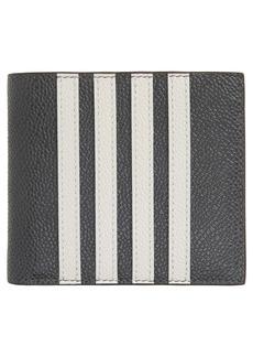 Thom Browne Appliqué Stripe Leather Bifold Wallet