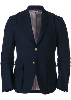 Thom Browne Articulated Solid Wool Flannel Sport Coat