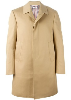 Thom Browne point-collar overcoat - Nude & Neutrals
