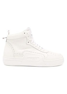 Thom Browne Basketball perforated leather high-top trainers