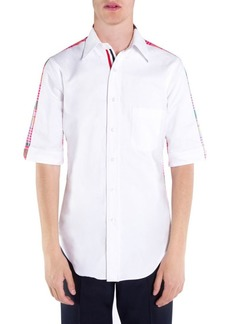 Thom Browne Bicolor Med Cotton Button-Down Shirt