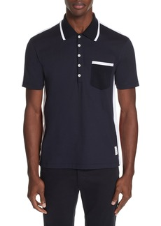 Thom Browne Bicolor Tipped Polo