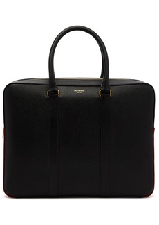 Thom Browne Business Day tricolour detail leather bag