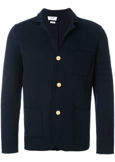 Thom Browne Button-back Fine Merino Wool Sport Coat With Tonal 4-bar Stripe