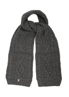 Thom Browne Cable-knit wool scarf