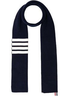 Thom Browne Cashmere Ribbed Bar Stripe Scarf