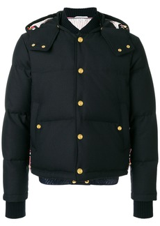 Thom Browne Center-Back Stripe Down Bomber