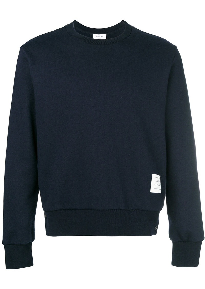 Thom Browne Center-Back Stripe Jersey Pullover