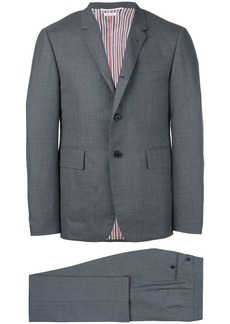 Thom Browne High-Armhole Plain Weave Suit in Super 120s Wool - Grey