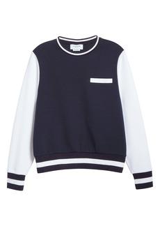 Thom Browne Colorblock Cotton Sweatshirt (Nordstrom Exclusive)