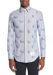 Thom Browne Daschund Kitty Print Shirt