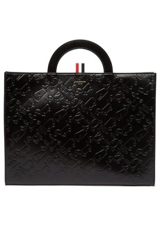 Thom Browne Debossed leather document holder